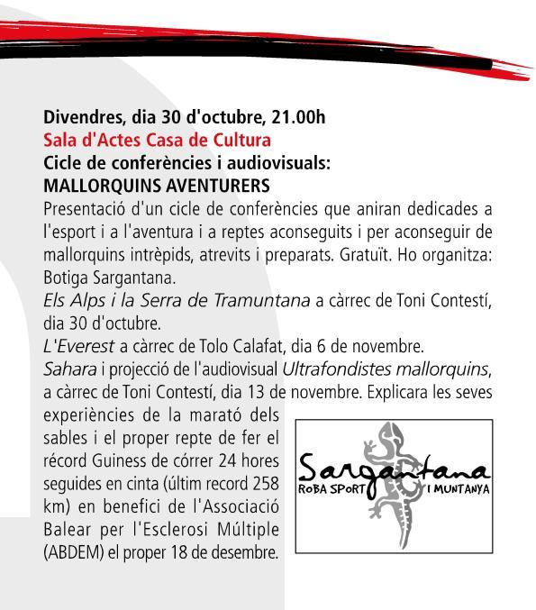 sargantana agenda cultural